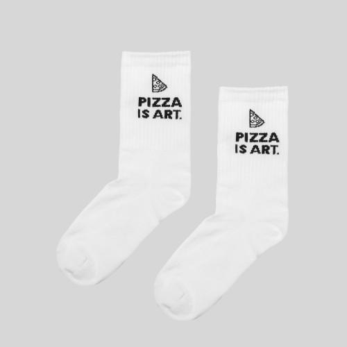 #03 Kojinės PIZZA ART, baltos